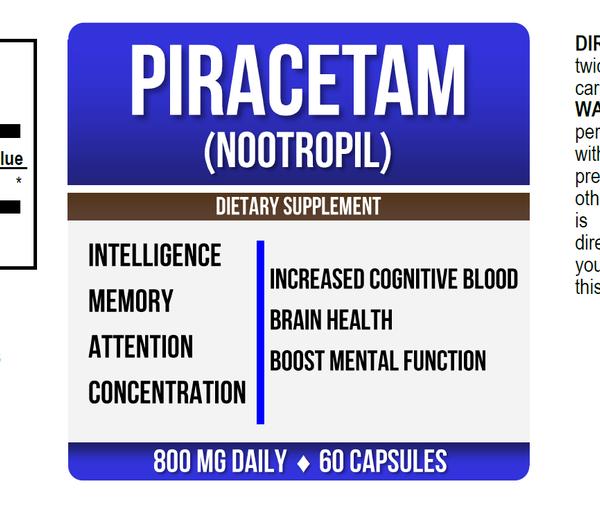 Piracetam Nootropil Label